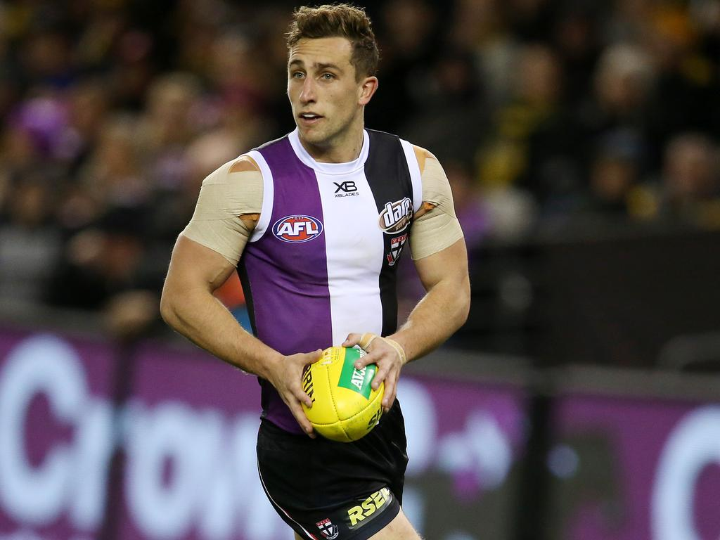 St Kilda's Luke Dunstan could be traded. Picture: Michael Klein