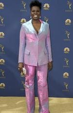 Leslie Jones arrives at the 70th Primetime Emmy Awards on Monday, Sept. 17, 2018, at the Microsoft Theater in Los Angeles. (Photo by Jordan Strauss/Invision/AP)