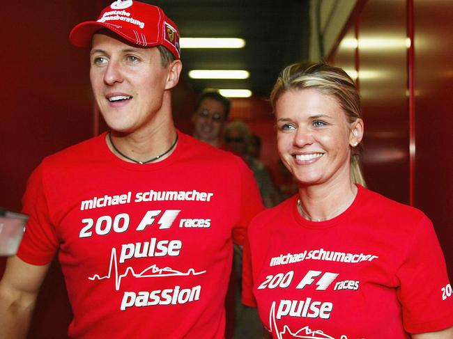 Michael Schumacher with his wife, Corinna. Picture: Getty Images