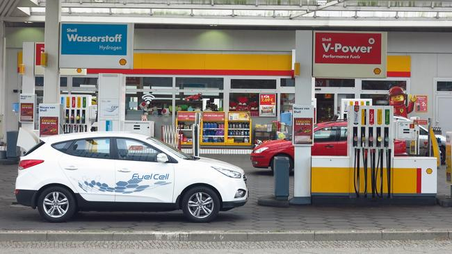 In Germany you can buy hydrogen near the bowsers for petrol and diesel. Picture: Joshua Dowling.
