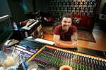 <p>Singer Guy Sebastian in his recording studio he has set up in Cooper Street, Surry Hills in Sydney. Picture: Rohan Kelly</p>