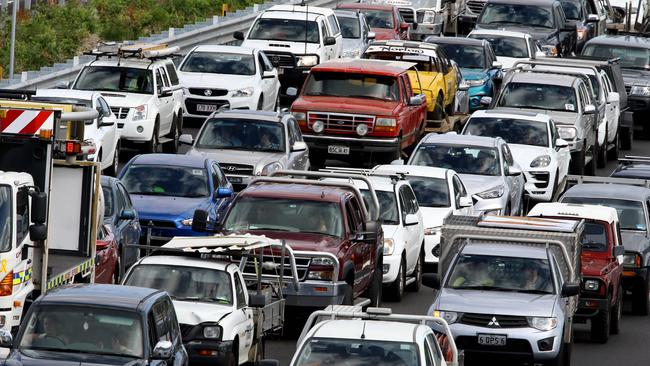 Traffic jams don't help. Picture: AAP/David Clark