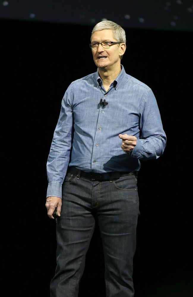 "Apple today announced a swag of new software improvements to its platforms that CEO Tim Cook called ""category defining and world changing"". Picture: AP Photo/Tony Avelar"