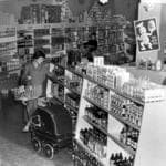 A standard 1950s supermarket - this is in Unley in 1957.