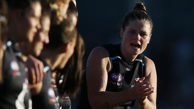 Brianna Davey is Carlton's AFLW captain.