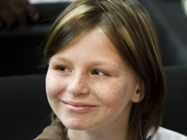 Zahra Baker who was brutally murdered and dismembered by her stepmother Elisa Baker in North Carolina, USA in 2010. Zahra, who was in remission from bone cancer, was allegedly the victim of continued abuse prior to her murder.