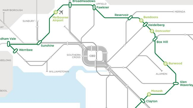 The Victorian Government has plans for a multi billion suburban rail loop.