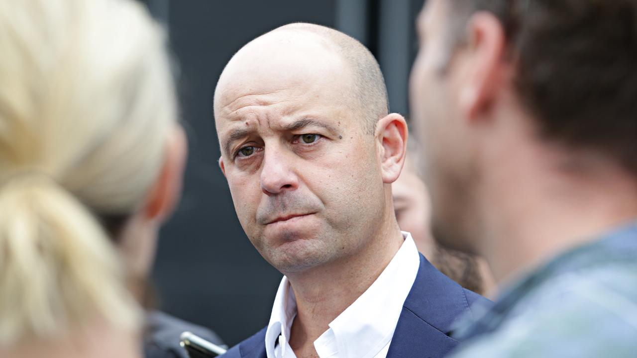 NRL CEO Todd Greenberg addresses the media after the Cowboys sacked Ben Barba. Picture: Adam Yip