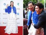 Dami Im and her husband Noah Kim arrive at the ARIA Awards 2014 in Sydney, Australia. Picture: Getty