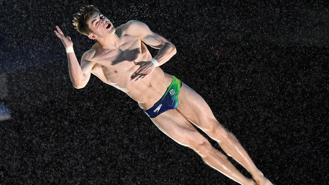 James Connor on his way to winning bronze in the 3m springboard final at the Commonwealth Games.