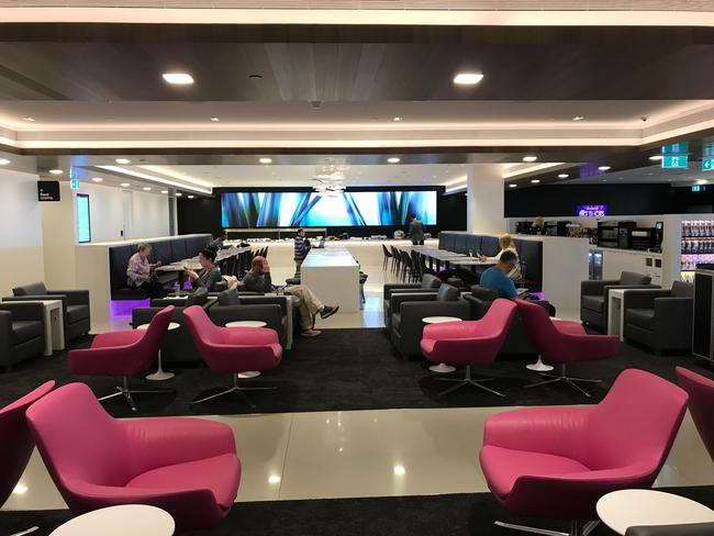 The Air New Zealand Koru Club lounge in Melbourne. Picture: Dion Hinchcliffe