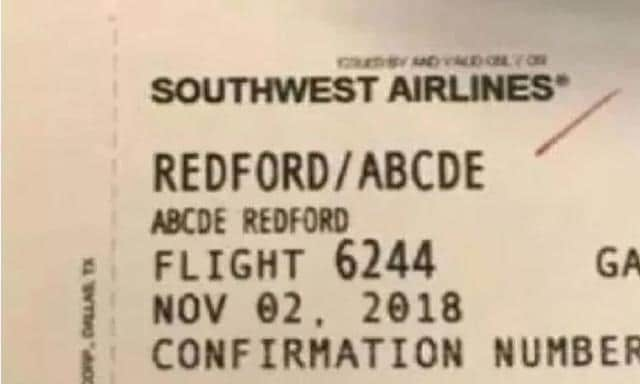 The boarding pass that set this whole thing off. Source: ABC TV