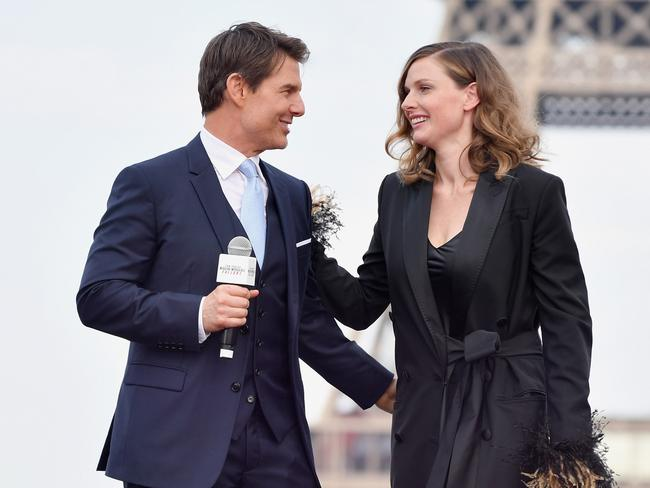 Tom Cruise and Rebecca Ferguson at the Global Premiere of Mission: Impossible — Fallout' at Palais de Chaillot in Paris this month. Picture: Gareth Cattermole/Getty Images for Paramount Pictures