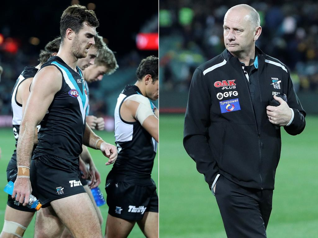 Port Adelaide coach Ken Hinkley has revealed he put the onus on Scott Lycett to perform well against Geelong.