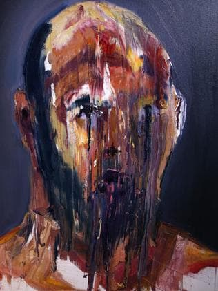 Disturbing ... Sukumaran's paintings become darker when he learns the end is very near. Picture: Adam Taylor