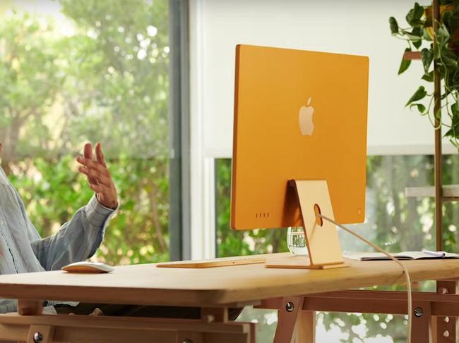 The new paper-thin iMac is available in a wide range of colours. Source: Supplied