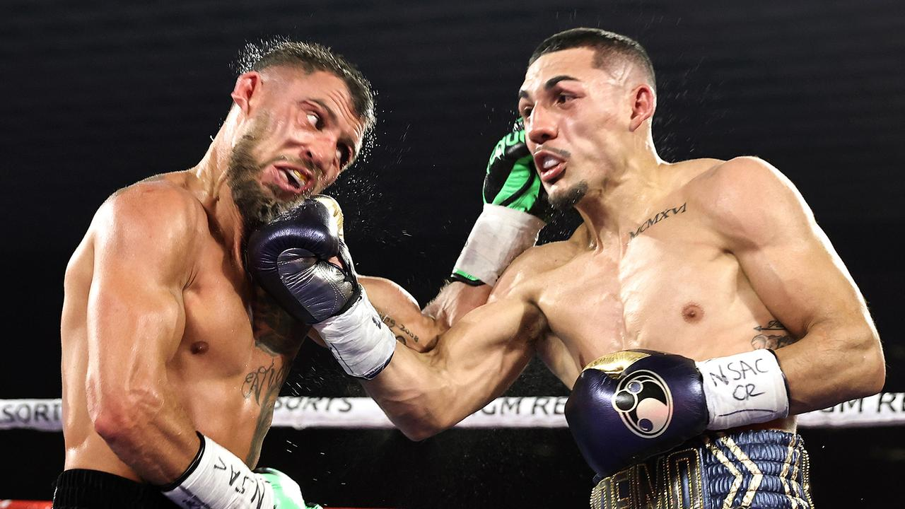Vasiliy Lomachenko (L) has undergone surgery after his loss to Teofimo Lopez Jr (R).