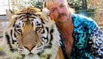 "(FILES) This undated file photo courtesy of Netflix shows Joseph ""Joe Exotic"" Maldonado-Passage with one of his tigers. - Maldonado-Passage will have to hand over the ownership of his famous zoo to Carole Baskin, who he tried to have murdered, a court has ruled. On June 1, 2020, a judge in Oklahoma ruled that the ownership of Exotic's land must be transferred to Baskin, who runs Big Cat Rescue in Florida. Maldonado-Passage, is in jail after he was sentenced to 22 years in prison in January for the attempted murder of Baskin. (Photo by - / Netflix US / AFP) / RESTRICTED TO EDITORIAL USE - MANDATORY CREDIT ""AFP PHOTO / NETFLIX"" - NO MARKETING - NO ADVERTISING CAMPAIGNS - DISTRIBUTED AS A SERVICE TO CLIENTS"