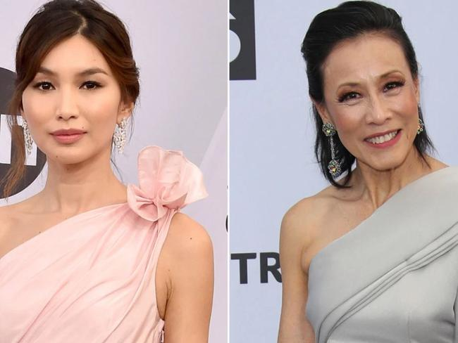 Crazy Rich Asians stars Gemma Chan (left) and Tan Kheng Hua were misidentified. Picture: Getty