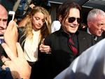 Johnny Depp and his wife Amber Heard appear in Southport Court on the Gold Coast back in April 2016. Picture: Adam Head
