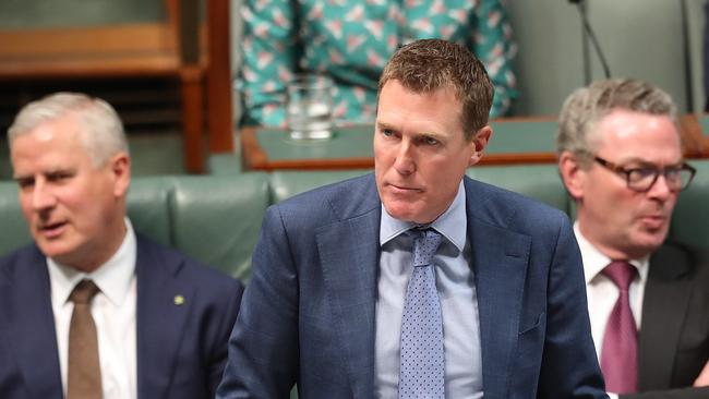 Attorney-General Christian Porter during question time. Picture: Kym Smith.