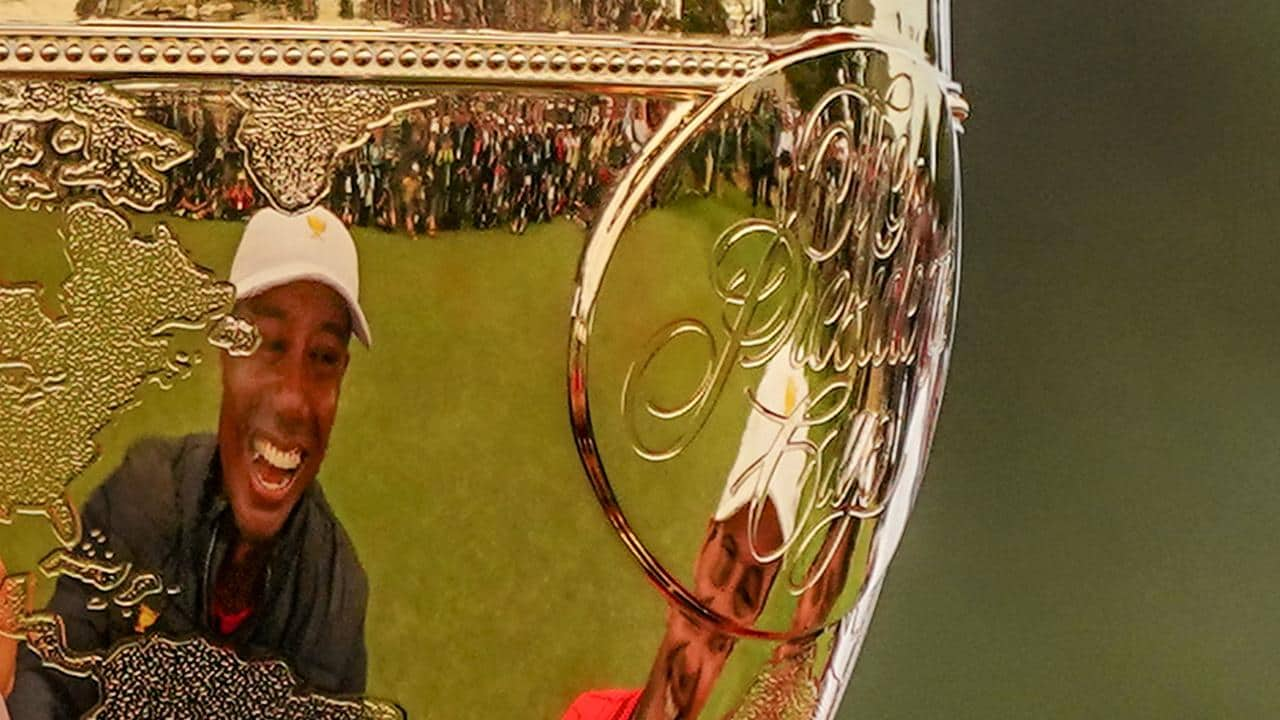 The Presidents Cup was all about Tiger Woods - and he delivered. (AAP Image/Scott Barbour)