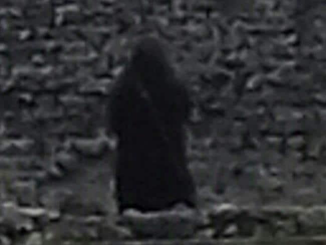 "Is this the so-called ""Black Monk""? Picture: Caters News Agency"