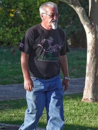 Vasko Ristevski visits the Ristevski house in Avondale Heights a day after Karen Ristevski's body was found outside Macedon. Picture: Mark Stewart