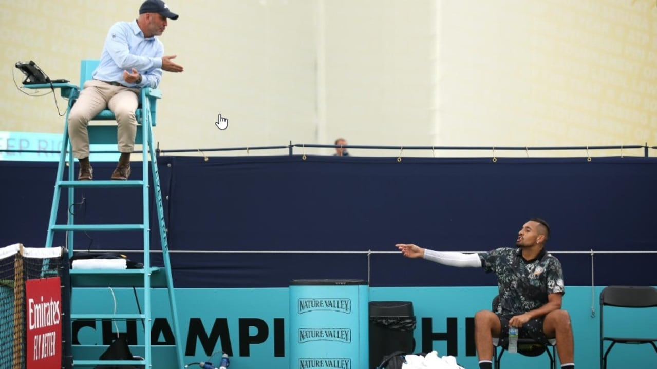 Queen's Club: Nick Kyrgios result, score, video, press conference