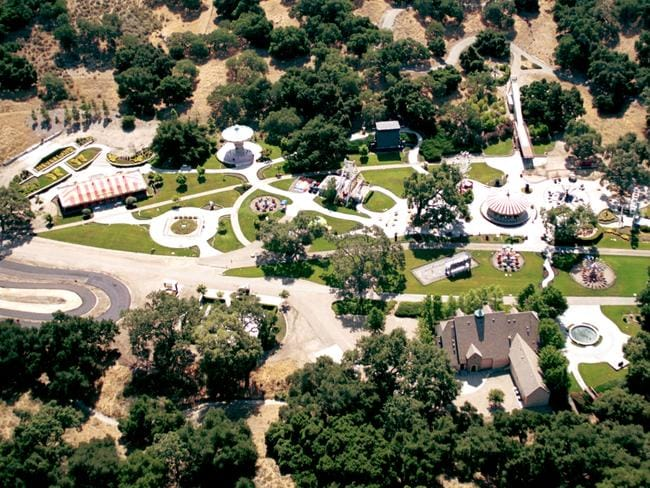 An aerial view of singer Michael Jackson's Neverland, featured in much of the HBO documentary. Picture: Supplied