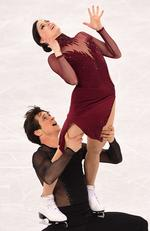 Tessa Virtue and Scott Moir of Canada. Picture: AFP PHOTO / Roberto SCHMIDT