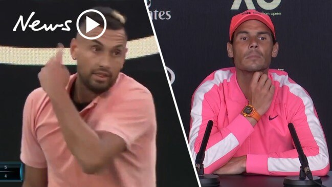 Australian Open: Nick Kyrgios roasts Nadal in salty on-court service mimic