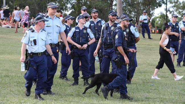 Police have escalated their efforts in the wake of a string of deaths from overdoses at music festivals across the country. Picture: David Swift.