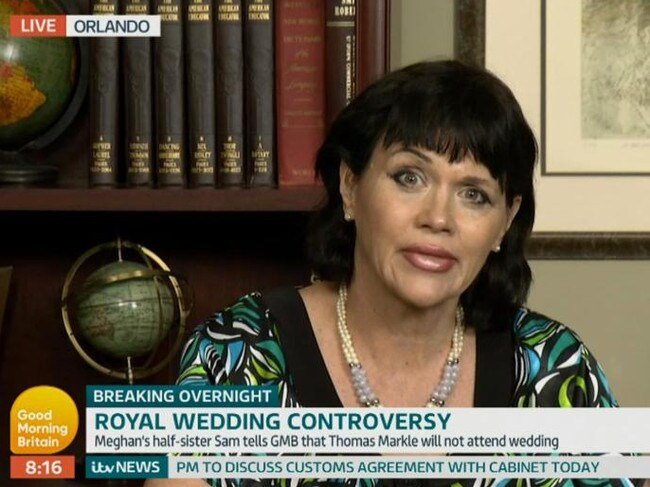 Samantha Markle has spoken out against half-sister Meghan many times. Picture: Supplied