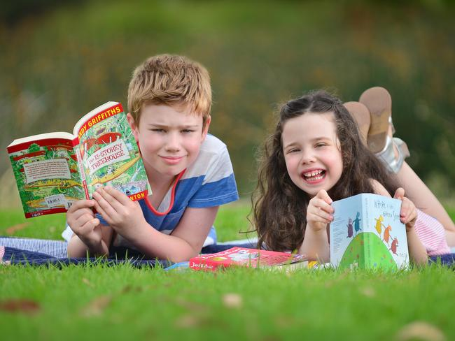Reading with your kids and talking to them is important to give them a headstart at school. Picture: Nicki Connolly