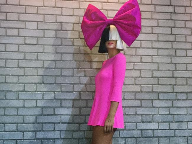 Sia once again braves the frontiers of fashion. Picture: Supplied