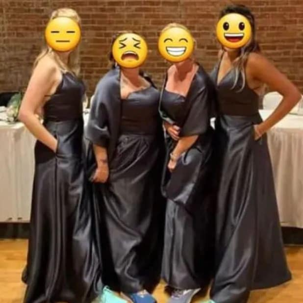 These bridesmaid dresses were likened to 'bin bags' – ouch.