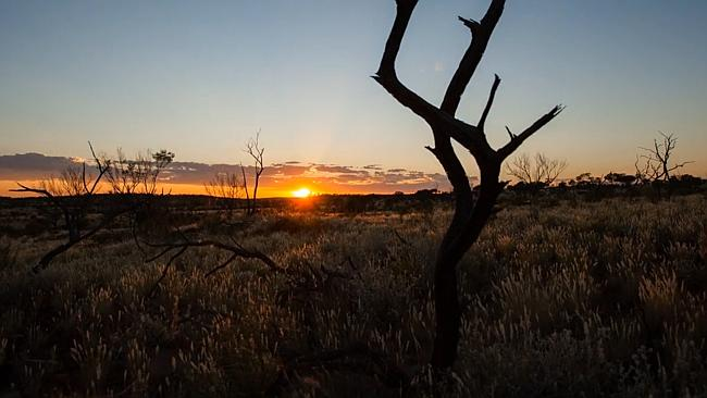 Sunrise in the Outback. Jody Brown spent six months photographing the 90-second video.