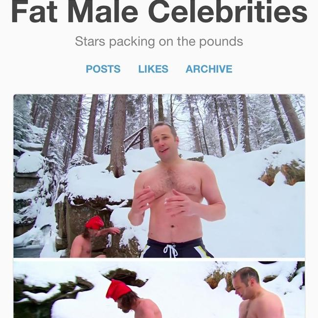 Sunday Night journalist Steve Pennells was fat-shamed on the 'Fat Male Celebrity' page on Tumblr.