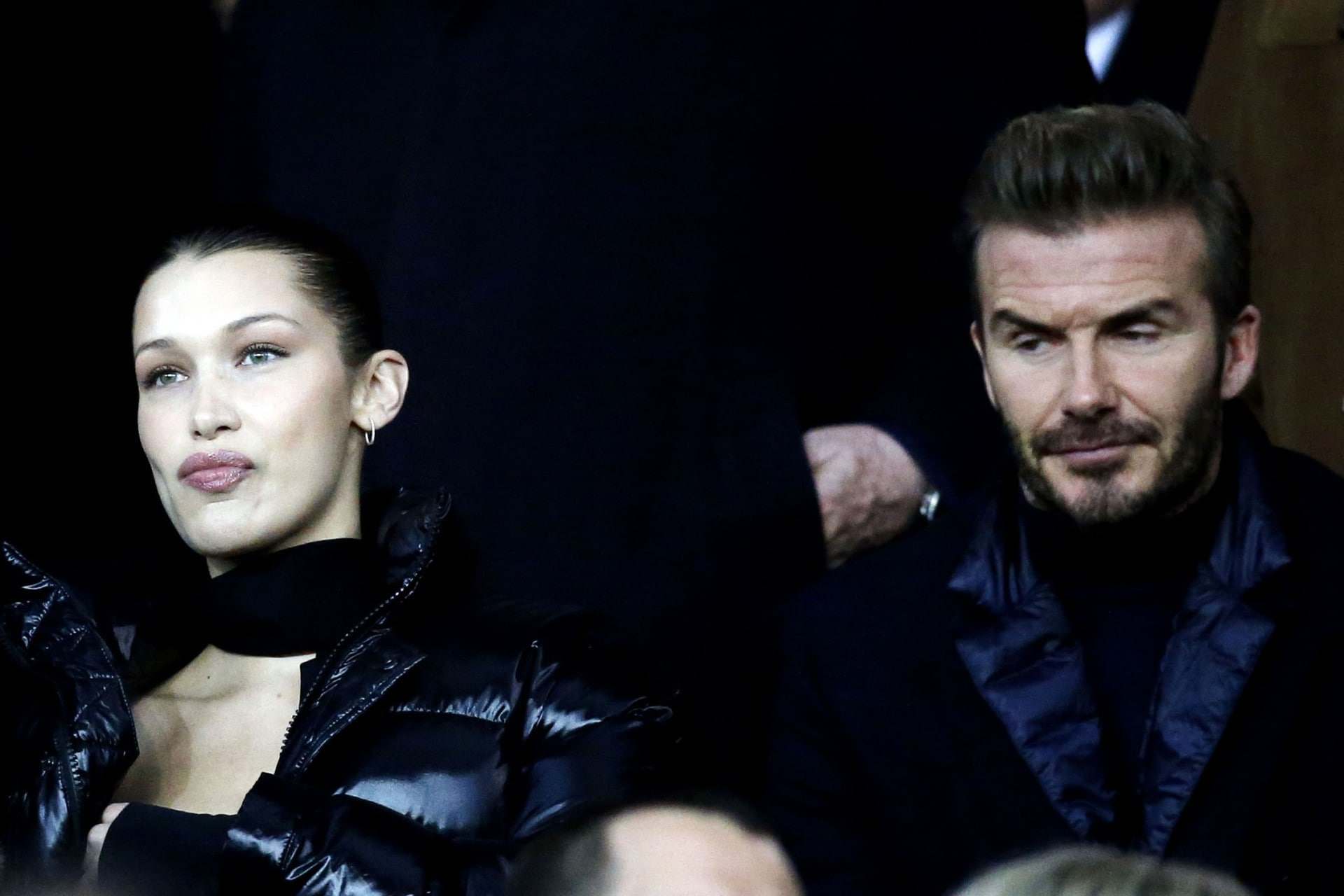 Bella Hadid just enjoyed a soccer game with her new best friend David Beckham