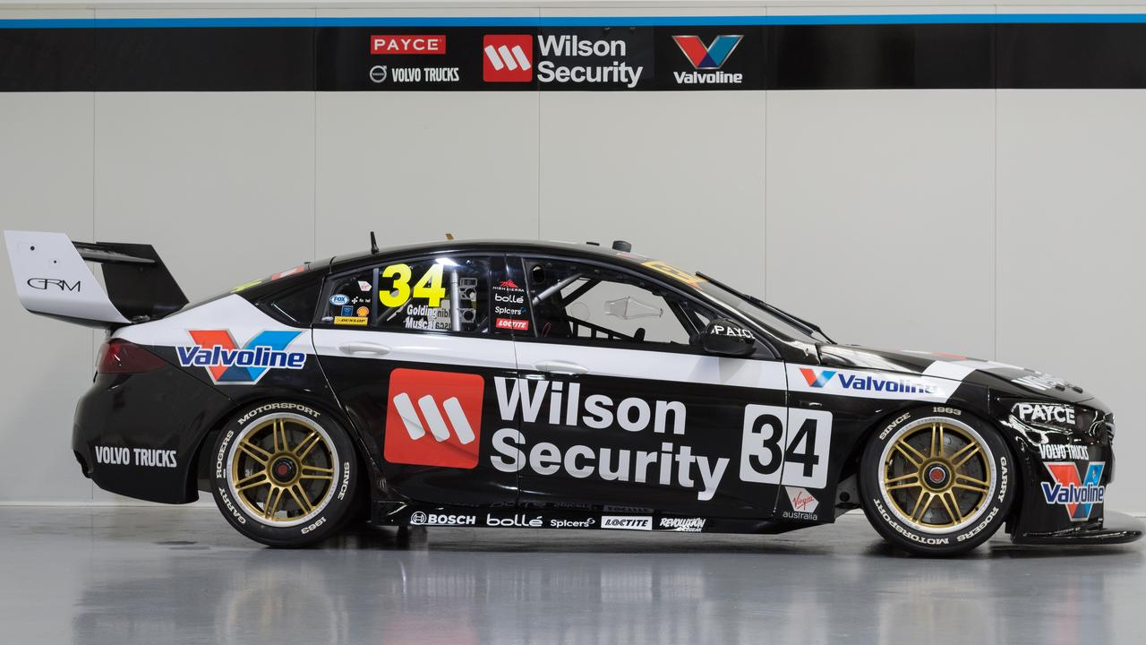 GRM's No.34 livery pays tribute to Rogers' 1983 Bathurst car.