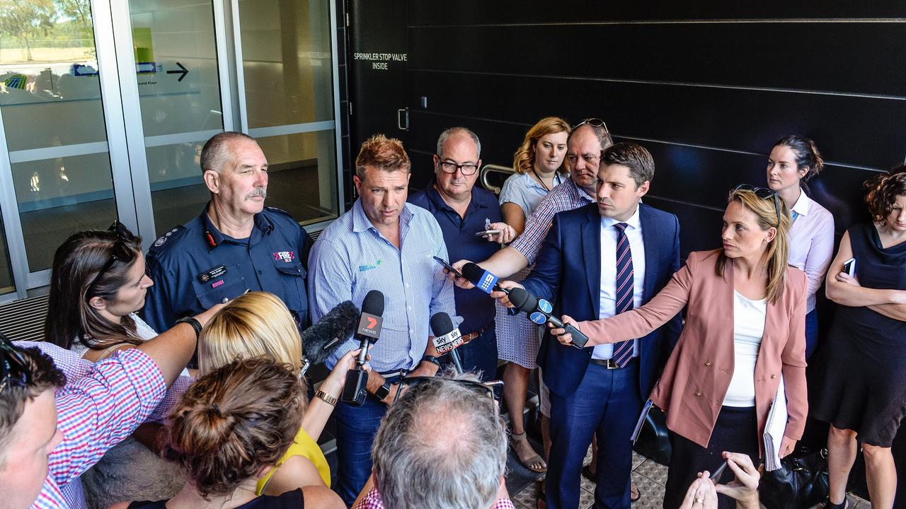 Darren thomas forges blueprint for fire disaster recovery darren thomas fronts the media the day after the fire picture aap malvernweather Image collections