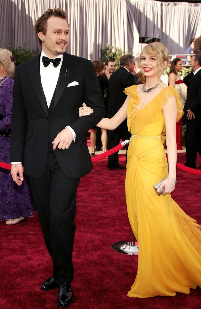 Michelle Williams and Heath Ledger at the Academy Awards in 2007. Picture: Getty Images