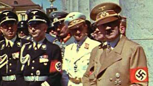 Nazi officials with Adolf Hitler, who is believed to have had a drug problem. Picture: AP
