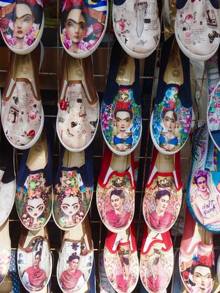 Frida Kahlo merchandise is everywhere. Picture: Lean McLennan