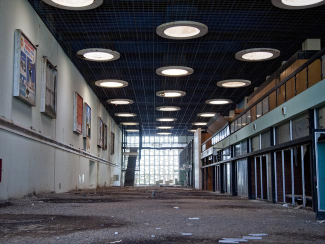 Inside the derelict terminal building. Picture: Athanasios Gioumpasis/Getty Images