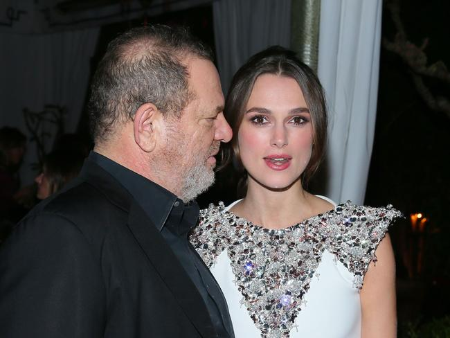 "the British actress worked with Harvey Weinstein but says they only had ""professional encounters""."