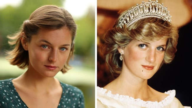 Emma Corrin will play Princess Diana in 'The Crown'. Sources: IMDb (left) and Getty Images (right)