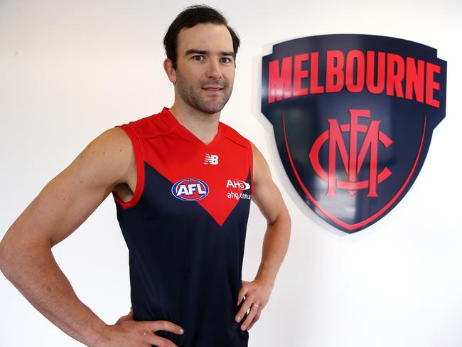 Jordan Lewis shocked everyone by joining Melbourne. Picture: Michael Klein.