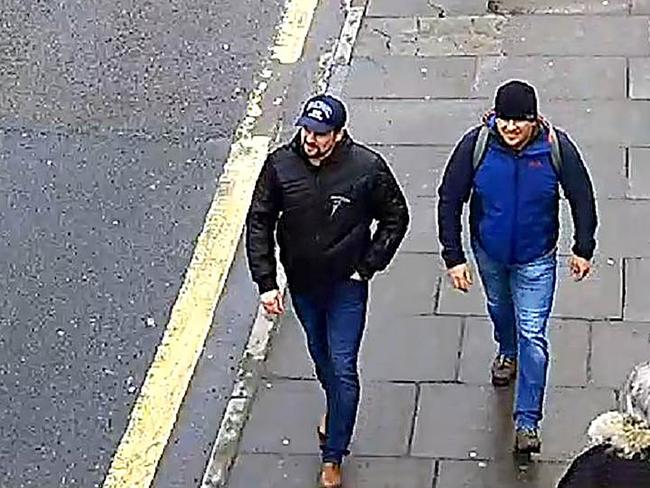 The two men seen on CCTV camera in London. Picture: Supplied